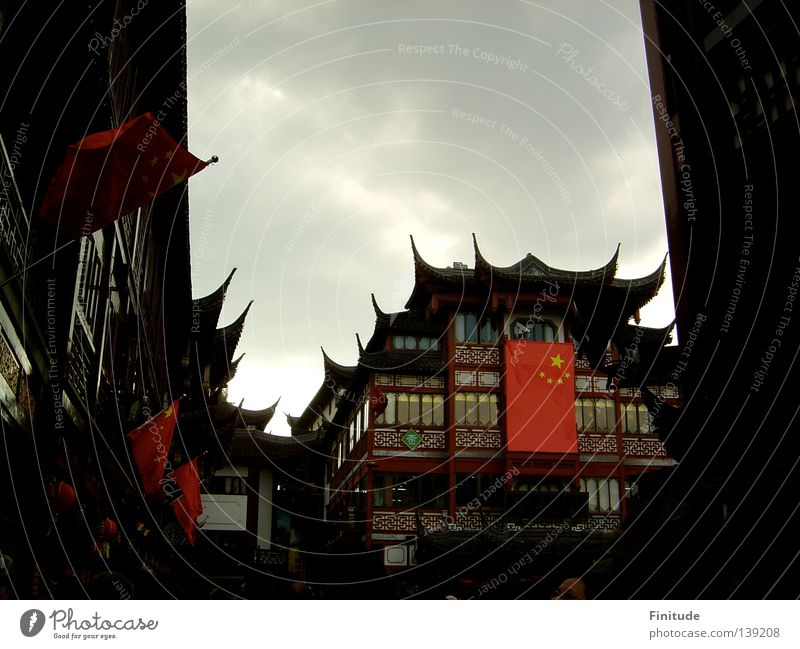 National Day China Shanghai Chinese Asia Historic nostalgic National day traditional architecture historical tea house