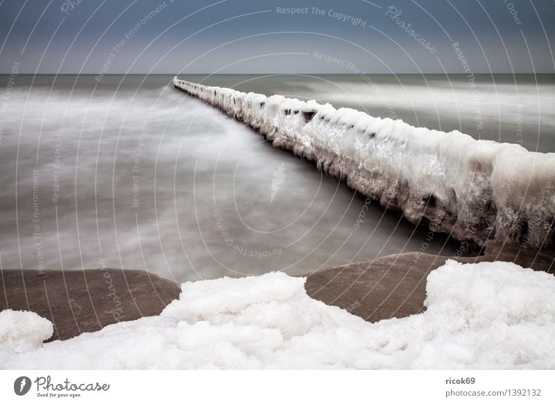 Nature Vacation & Travel Water Ocean Landscape Calm Clouds Beach Winter Cold Coast Weather Tourism Frost Seasons Baltic Sea