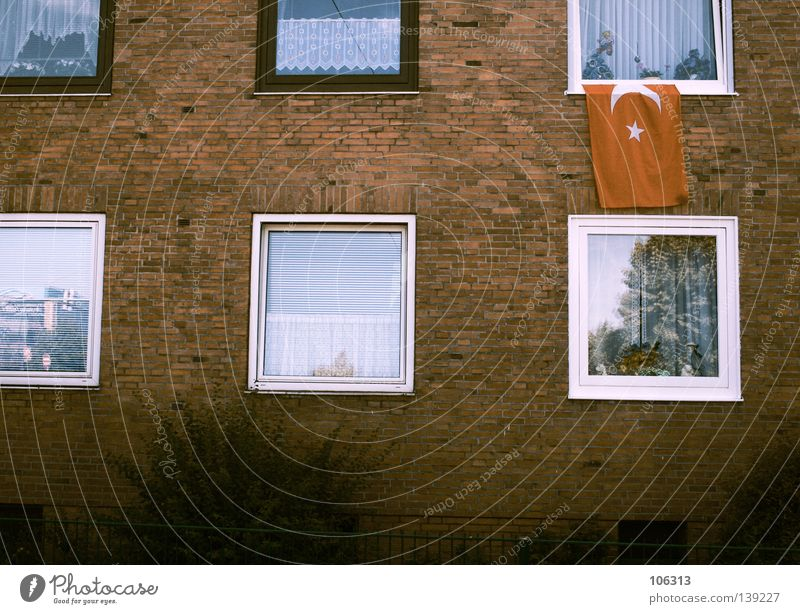 White Red Loneliness House (Residential Structure) Window Wall (building) Life Above Open Going Flat (apartment) Signs and labeling Tall Authentic