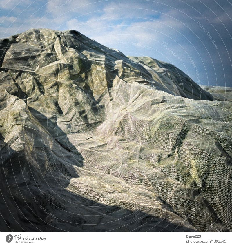 Berg? Agriculture Forestry Net Reticular Hill Mountain Covers (Construction) Protection Autumn Deserted Miniature Sharp-edged Blue Gray Green White Bizarre Art