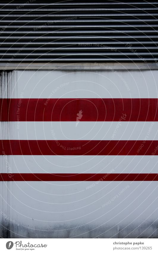 White Red Wall (building) Architecture Background picture Line Design Arrangement Simple Stripe Painting (action, work) Geometry Obscure Symmetry Parking garage