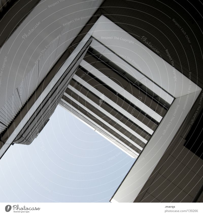 Sky House (Residential Structure) Wall (building) Building Architecture High-rise Tall Corner Balcony Story Handrail Geometry