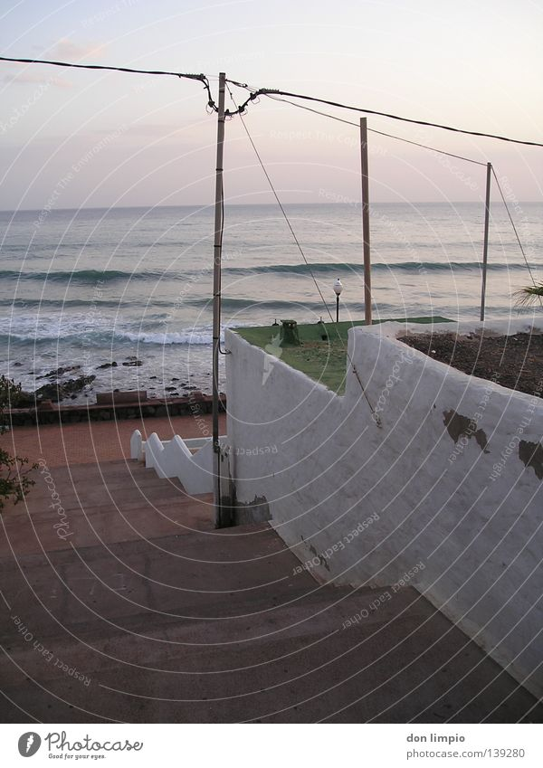 (without title) Ocean Waves Hissing Africa Stairs casa Morning morro Digital photography
