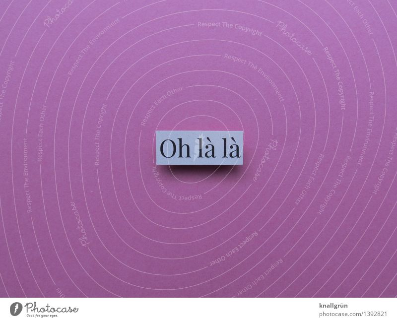 Oh la la Characters Signs and labeling Communicate Sharp-edged Eroticism Pink White Emotions Moody Desire Lust Sex Sexuality Senses Colour photo Studio shot