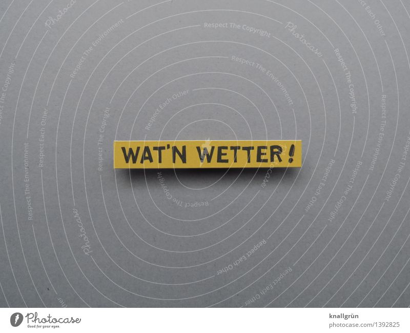 WAT'N WETTER ! Characters Signs and labeling Communicate Sharp-edged Cliche Emotions Moody Disappointment Nature Environment Frustration Weather Colour photo