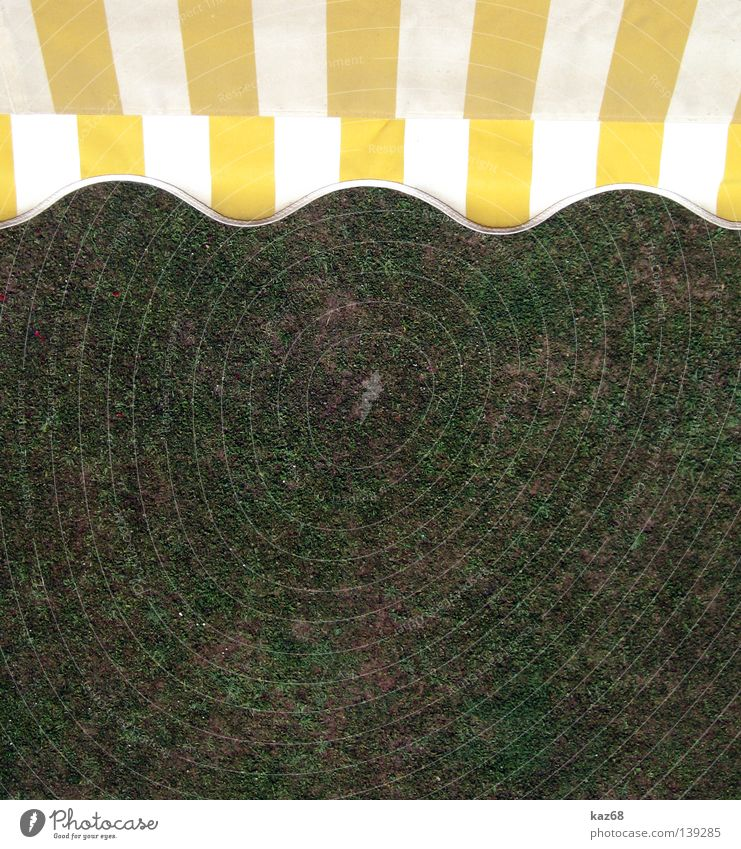 undulating Sun blind Summer Physics Winter Sky Cloth Stripe Yellow White Grass Vacation & Travel Waves Balcony Flat (apartment) House (Residential Structure)