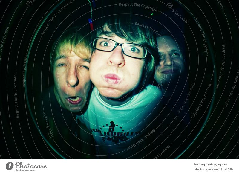 Man Youth (Young adults) Fisheye Joy Face Crazy Circle Action Cooking & Baking Round Scream Sphere Analog Blow Panic Grimace