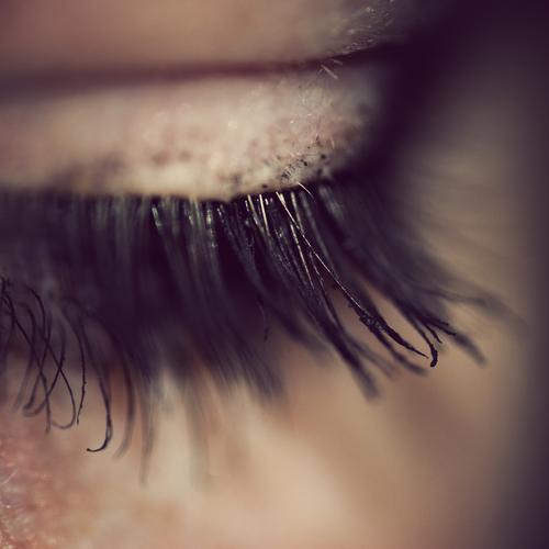 too bad... :( Pupil Eyelash Human being Senses Make-up Wearing makeup Mascara Eye shadow Woman Feminine Beautiful Cosmetics Emphasize Eyeliner