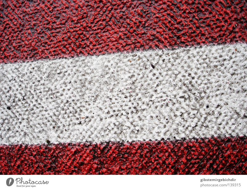 bitumen flag Transport Pavement Red White 30 mph zone Macro (Extreme close-up) Close-up Traffic infrastructure Street wallpapers traffic-calmed