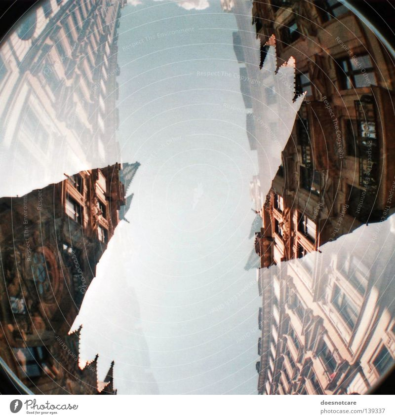 Old Sky Green Blue Style Building Religion and faith Architecture Rome Church Leipzig Ancient God Double exposure Christianity