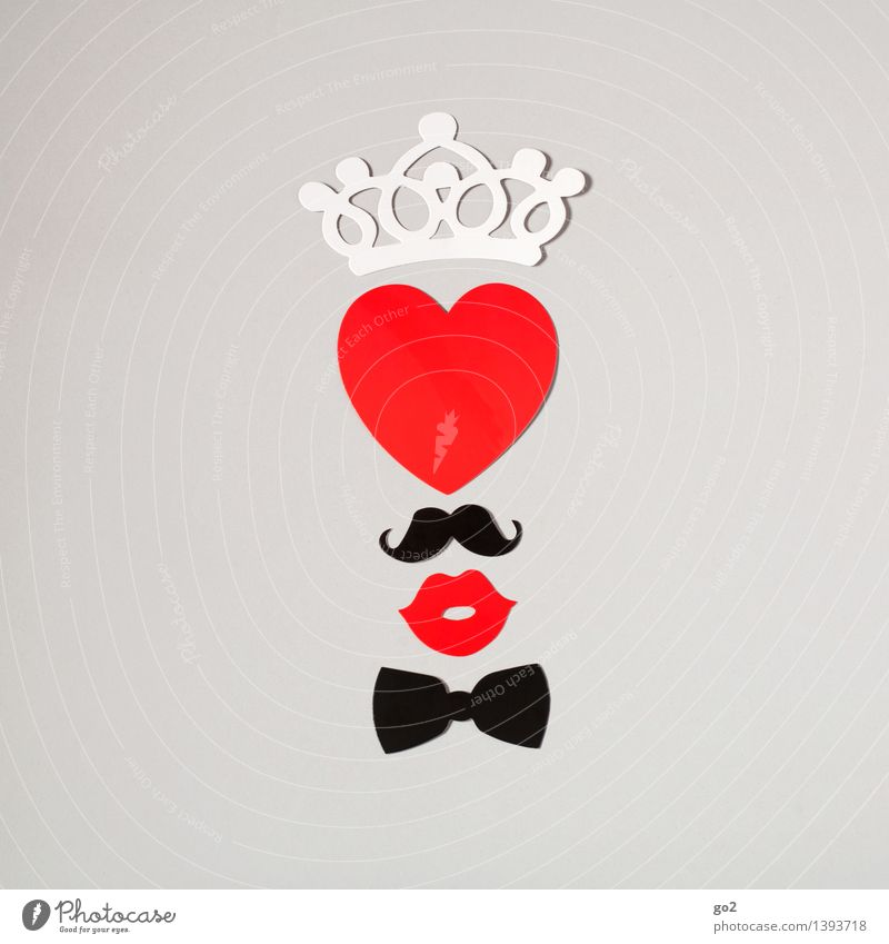 White Red Joy Black Love Emotions Design Leisure and hobbies Esthetic Happiness Creativity Heart Mouth Joie de vivre (Vitality) Paper Sign