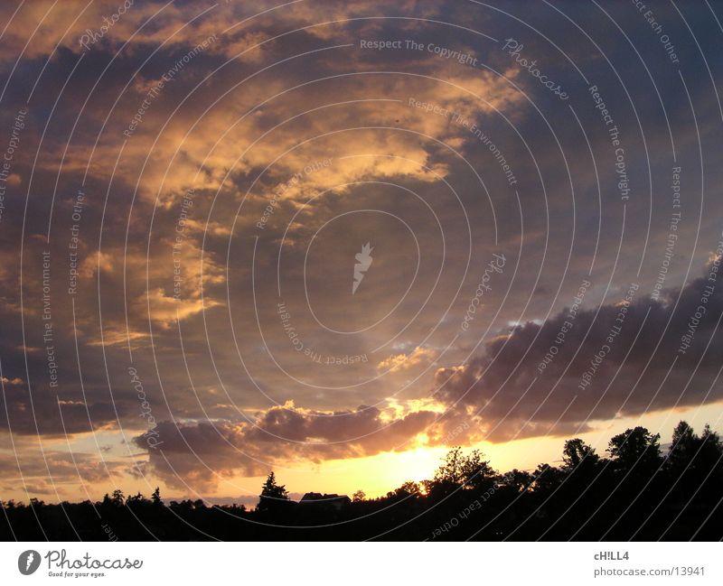 sunrays Clouds Sunbeam Tree Lighting actinism glindower alps Werder Havel Evening Vacation & Travel