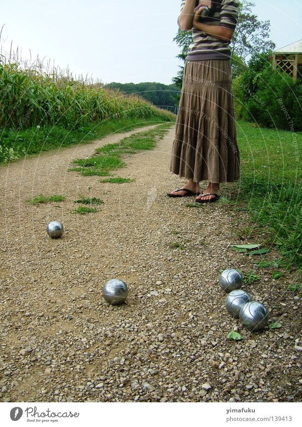 petanque Boules Summer Ball sports silver Maize outside balls brown thinking skirt