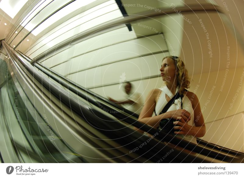 Kuala Lumpur Knipser Escalator Fisheye Self portrait Asia Mirror Human being Distorted