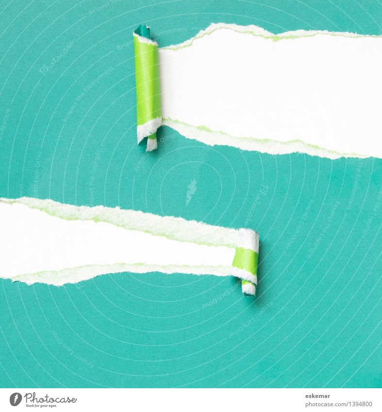 Green White Paper Curiosity Mysterious Surprise Turquoise Piece of paper Stationery Torn