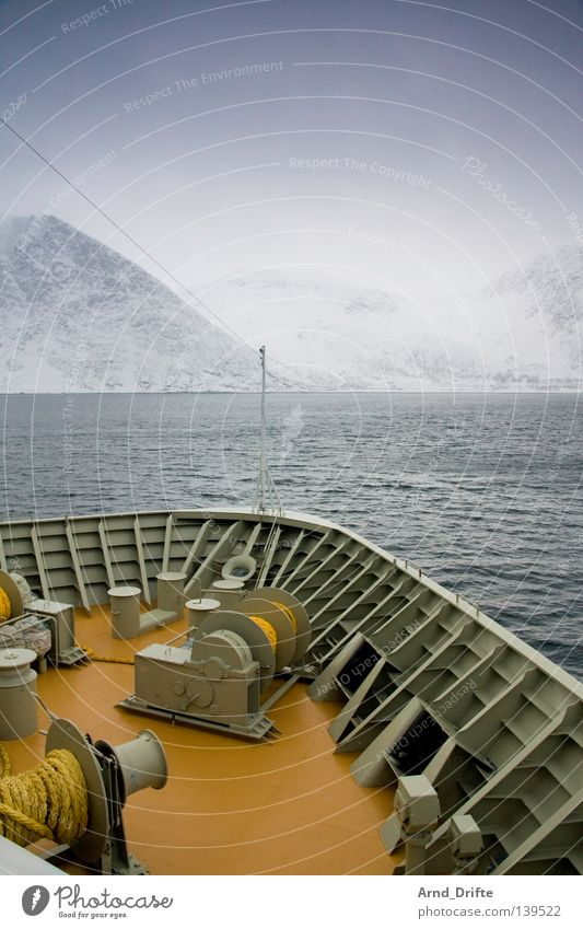 Water Sky Ocean Winter Clouds Cold Snow Mountain Lake Ice Watercraft Waves Coast Navigation Norway Ferry