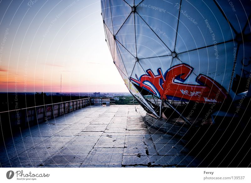 NSA Field Station Sunset Derelict Industry Berlin bugging system Cold War devil's mountain Graffiti Science Fiction