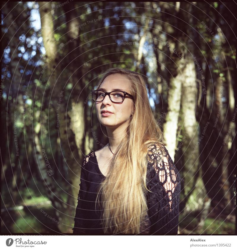 Nature Youth (Young adults) City Beautiful Young woman Tree 18 - 30 years Forest Face Adults Feminine Hair and hairstyles Hiking Blonde Authentic Esthetic