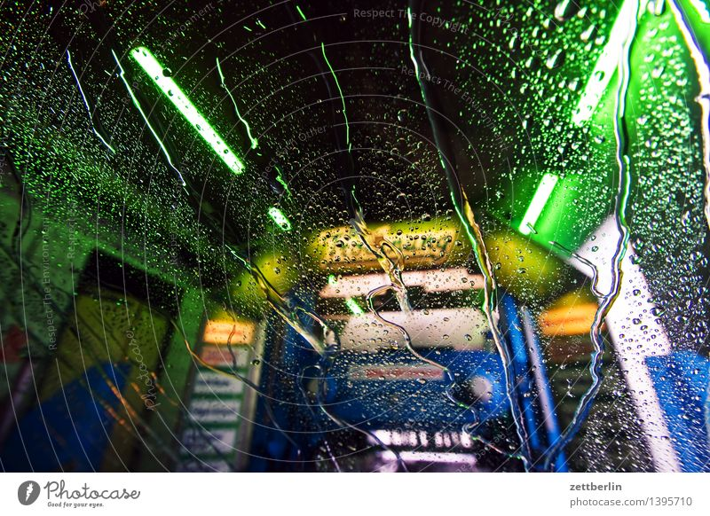car wash Car wash Car maintenance Multicoloured Colour Lighting Illuminate Lamp Light show Neon light Wet Clean Washing day Cleanliness obsession Cleaning Water