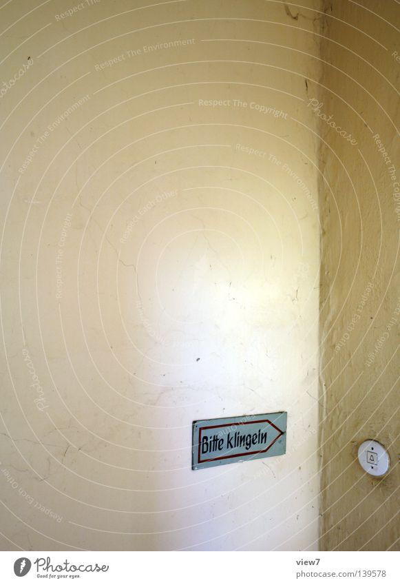 Old Loneliness Wall (building) Sadness Action Signs and labeling Circle Signage Desire Arrow Typography Boredom Entrance Plaster Switch