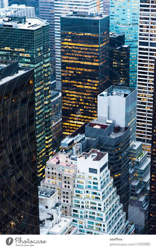 NYC |12 New York City Manhattan USA Town City life High-rise Skyline Esthetic Freedom Americas Dusk Light Bird's-eye view