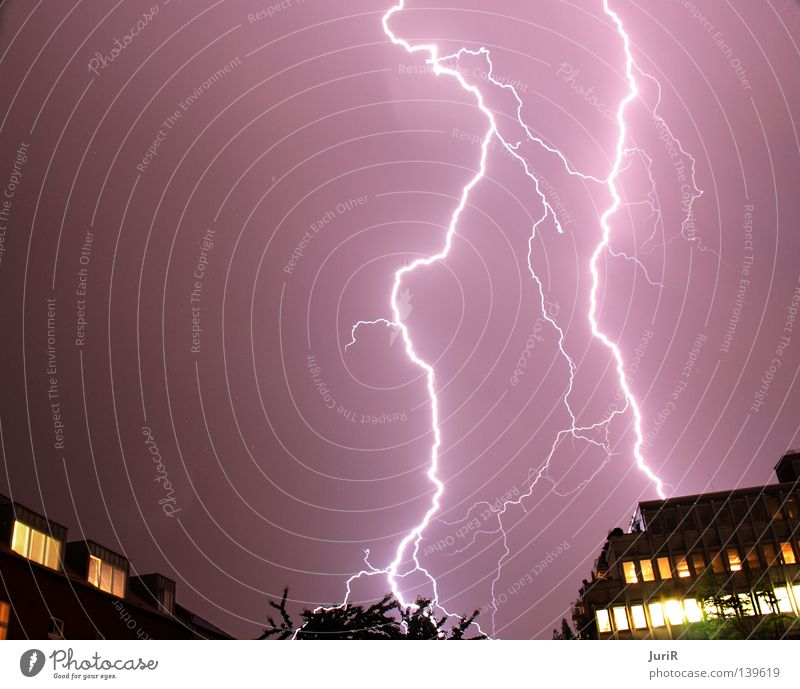 stormy Cologne Lightning Night Force of nature Dangerous Storm Gale Flashy Thunder and lightning Long exposure Rain Threat flash Bright