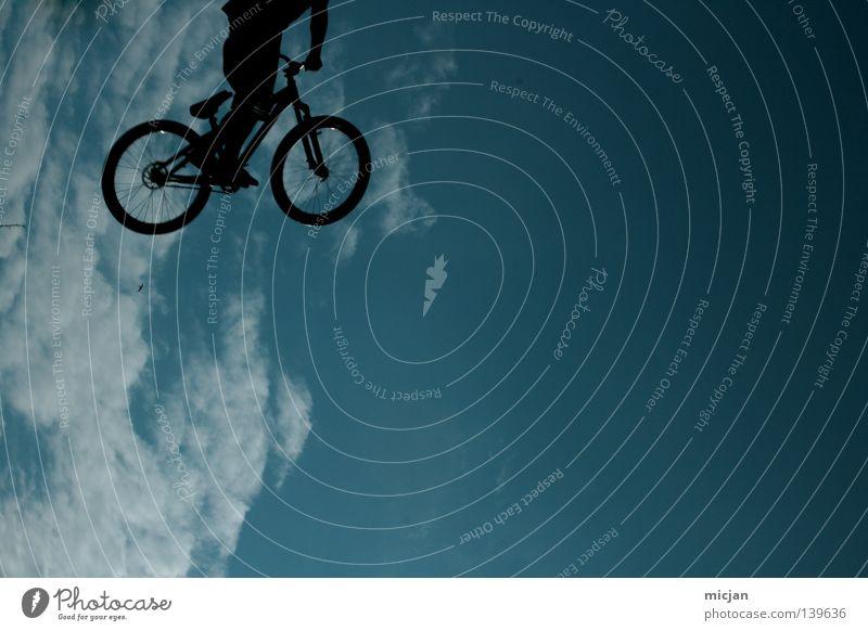Human being Sky Man Blue Beautiful Summer Joy Clouds Black Graffiti Sports Playing Jump Air Bright Bird