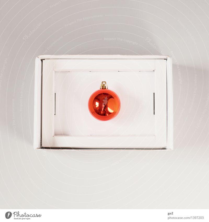 Christmas & Advent Orange Design Esthetic Gift Surprise Anticipation Packaging Cardboard Glitter Ball Package