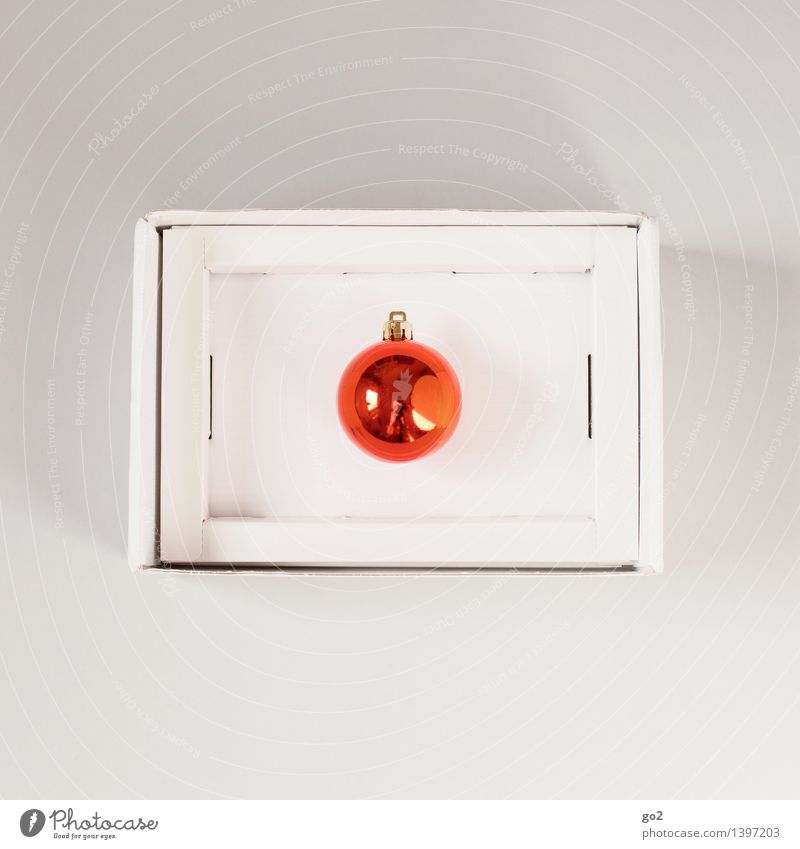 every year Christmas & Advent Glitter Ball Gift Cardboard Packaging Package Esthetic Orange Anticipation Design Surprise Colour photo Interior shot Studio shot