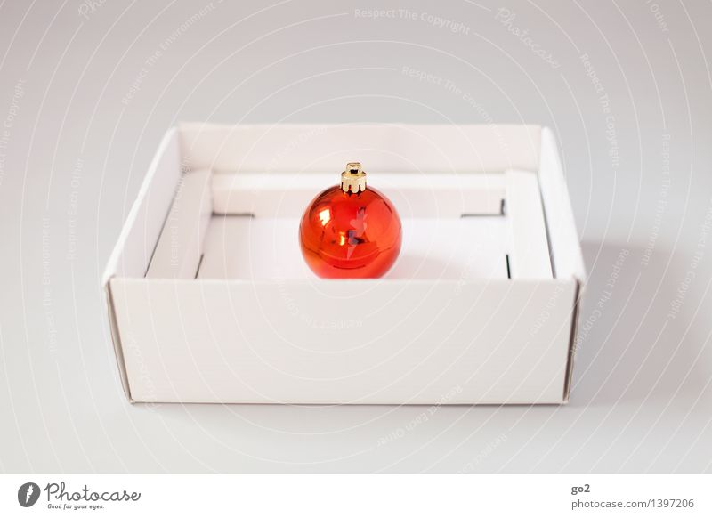 Christmas & Advent White Red Orange Design Esthetic Gift Simple Surprise Anticipation Packaging Cardboard Glitter Ball Packaging material