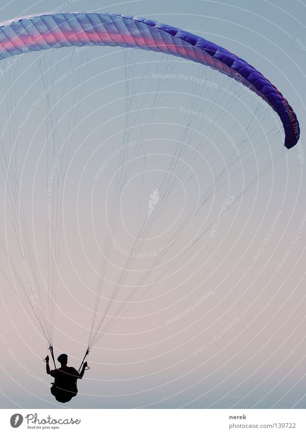 Trip into the blue Parachute Paraglider Paragliding Vacation & Travel To hold on Trust Free Infinity Beautiful Freestyle Ocean Leisure and hobbies