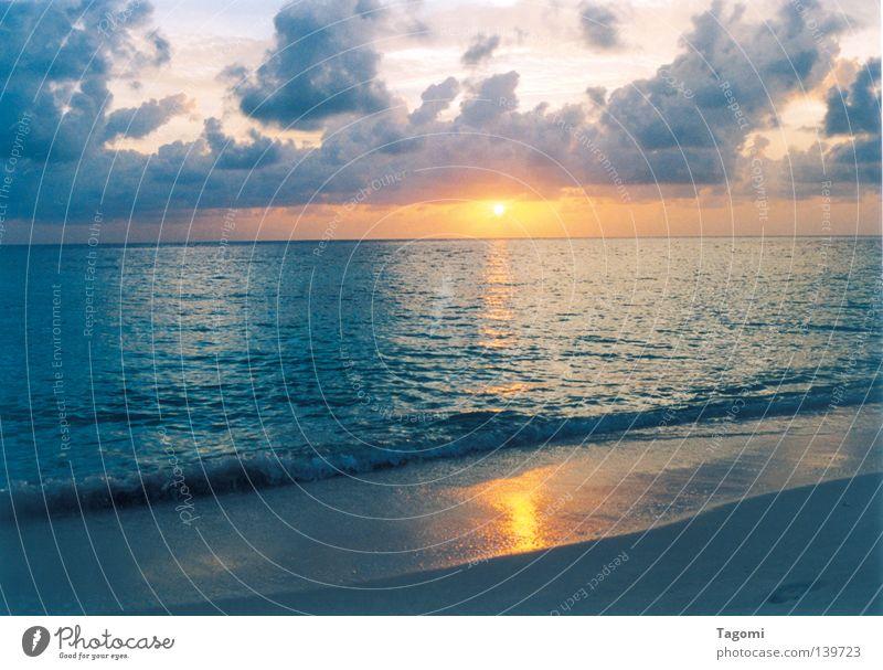 Blue Water Vacation & Travel Beautiful Sun Ocean Beach Clouds Calm Sand Lake Moody Lighting Orange Waves Wind