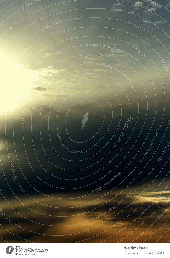 Sky Sun Clouds Air Moody Background picture Weather Hope Painting and drawing (object) Dusk Meteorology Meteorological service Record cover Troposhere