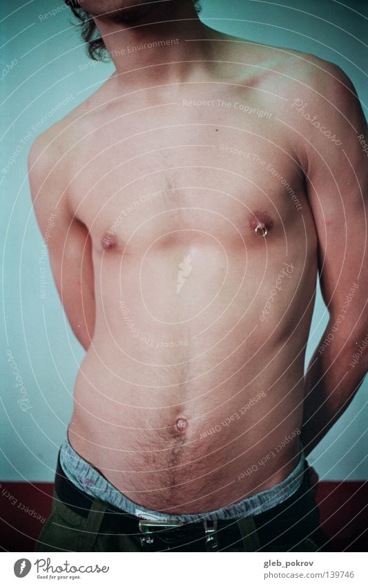 Man Summer Street Healthy Body Background picture Posture Chest Piercing Nude photography Nipple Jewellery Male nude