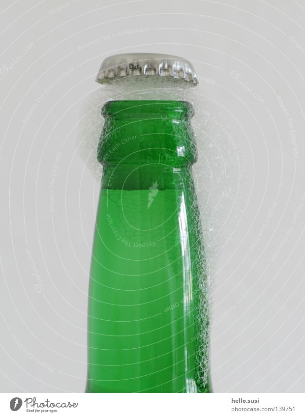 Green Party Glass Beverage Beer Bottle Alcoholic drinks Pressure Foam Thirst Bottle of beer Explosion Undo Closure Crown cork