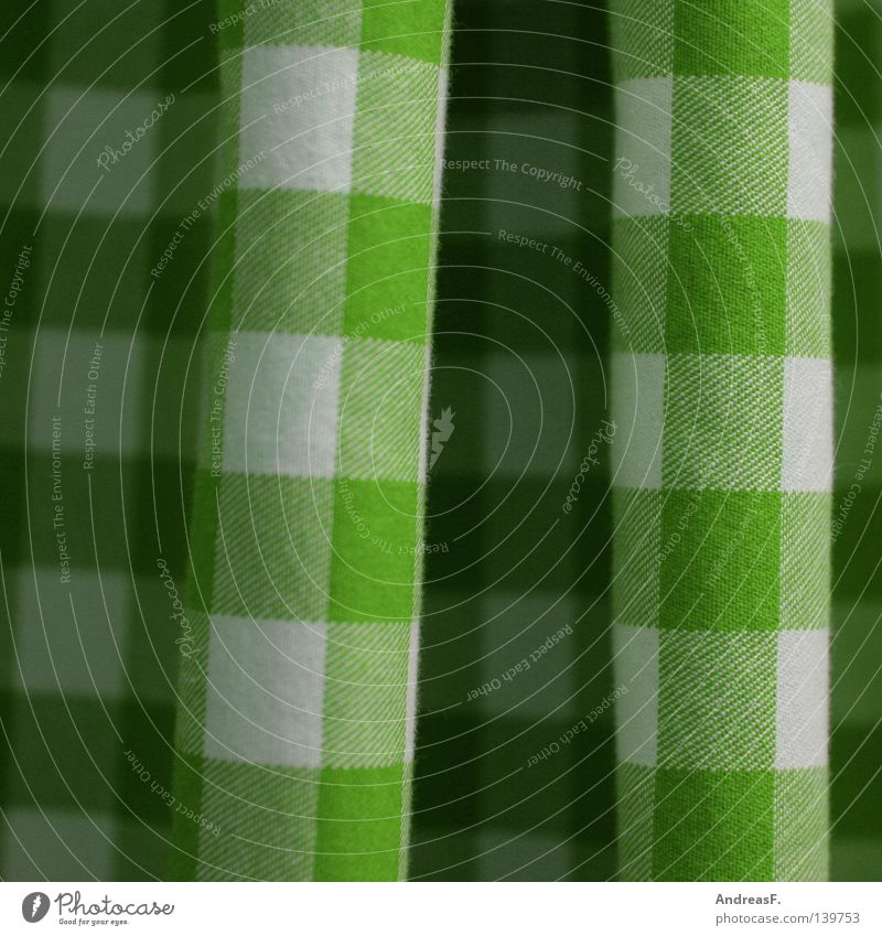 Green Colour Waves Clothing Kitchen Square Wrinkles Drape Household Checkered Quality Textiles Towel Undulating Meticulous