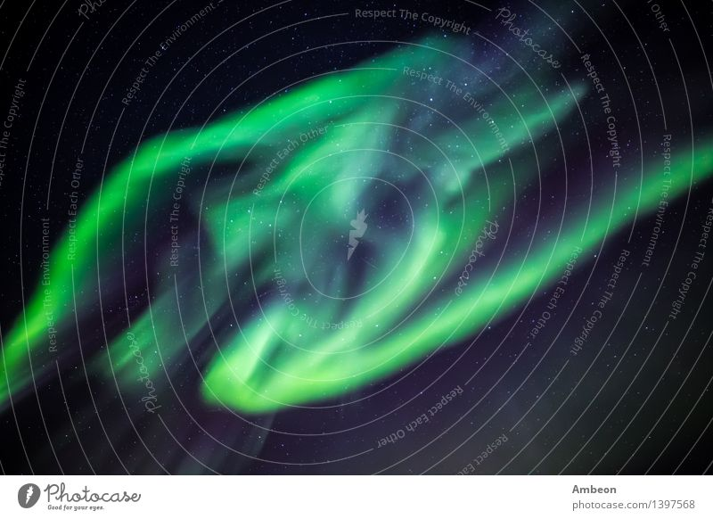 Greenland northern lights, nearby Nuuk Vacation & Travel Ocean Winter Nature Landscape Sky Sky only Climate Aurora Borealis Glittering Bright Natural Colour