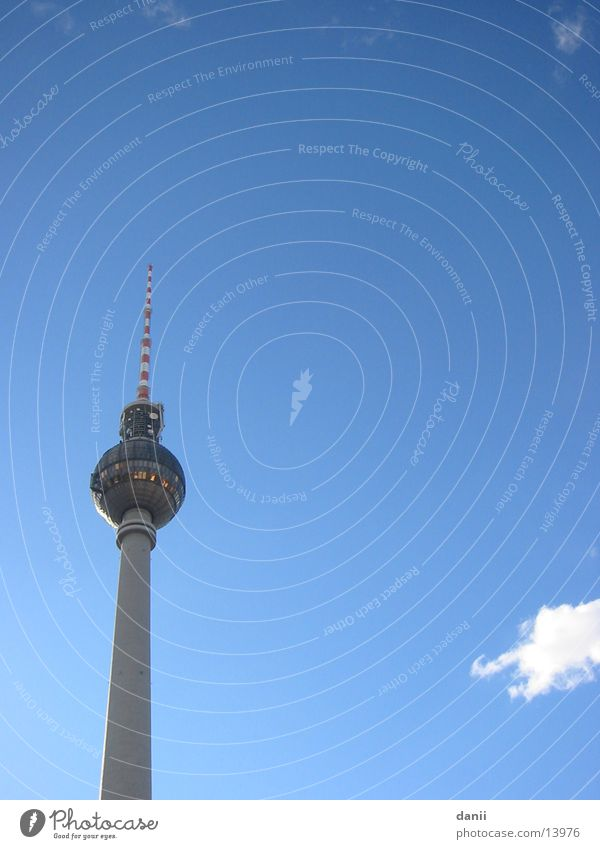Beautiful weather in Berlin Architecture Berlin TV Tower Sky alex Tall