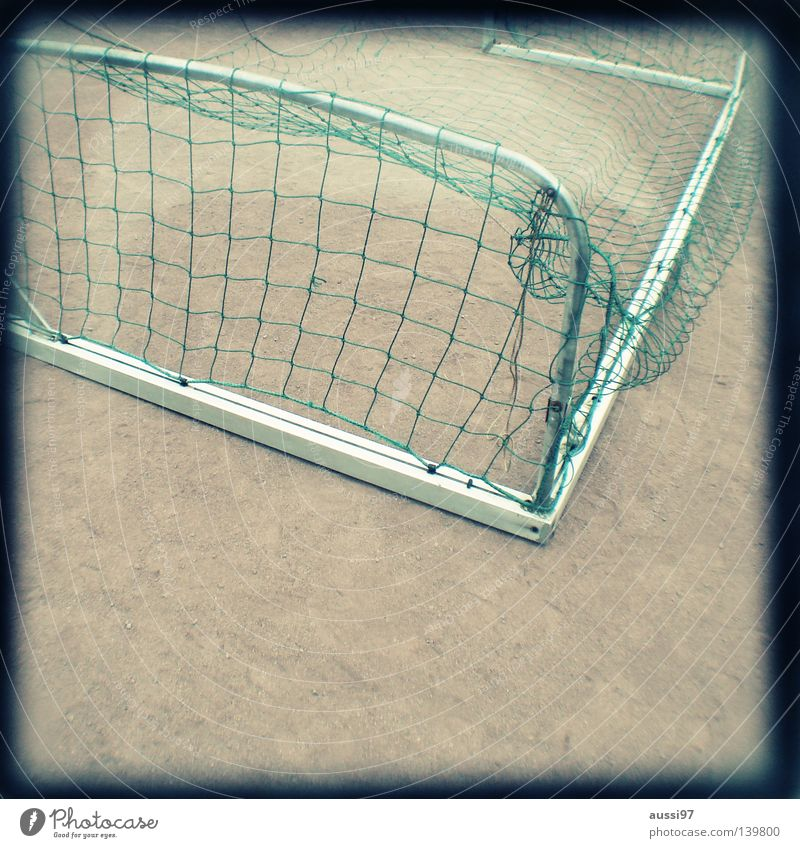 Yellow Sports Soccer Dirty Infancy Ball Concentrate Gate Analog Fight Depth of field Doomed Grid Mud Lose Viewfinder