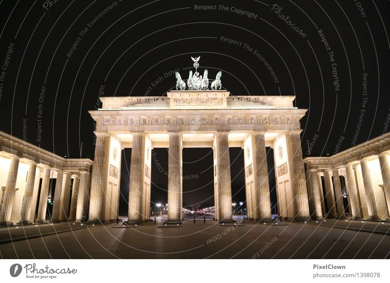 berlin brandenburg gate Lifestyle Vacation & Travel Tourism Sightseeing City trip Night life Art Work of art Capital city Tourist Attraction Landmark Monument