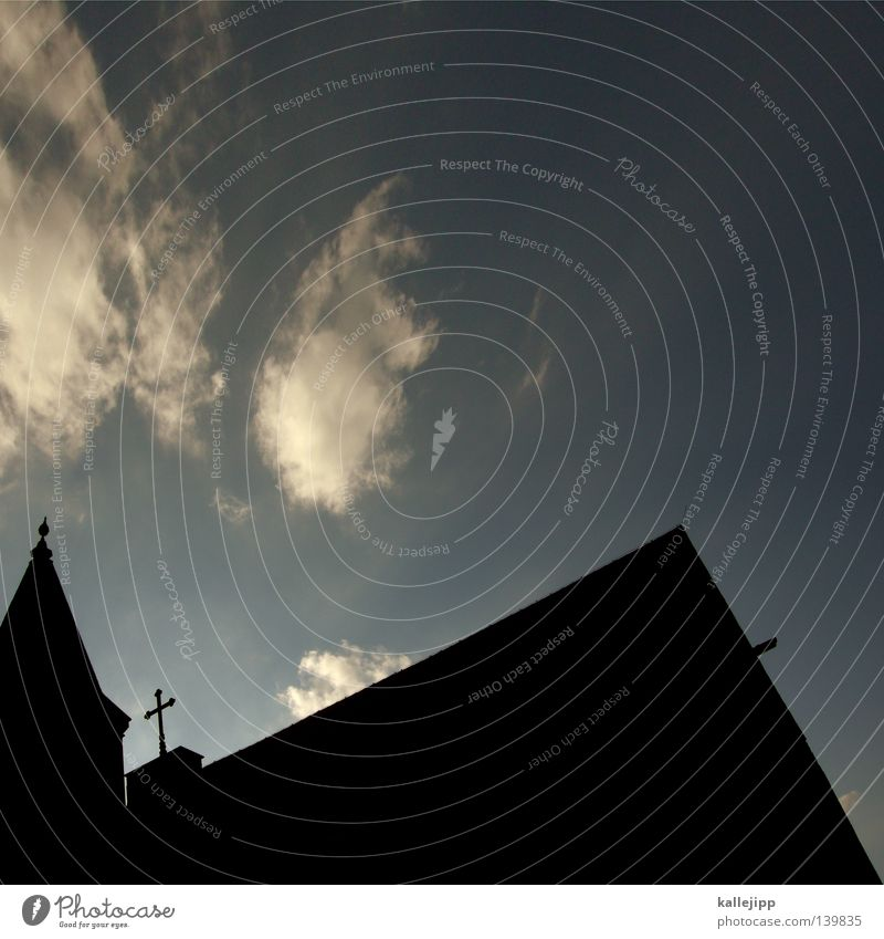 Sky House (Residential Structure) Clouds Religion and faith Back Sign Symbols and metaphors House of worship