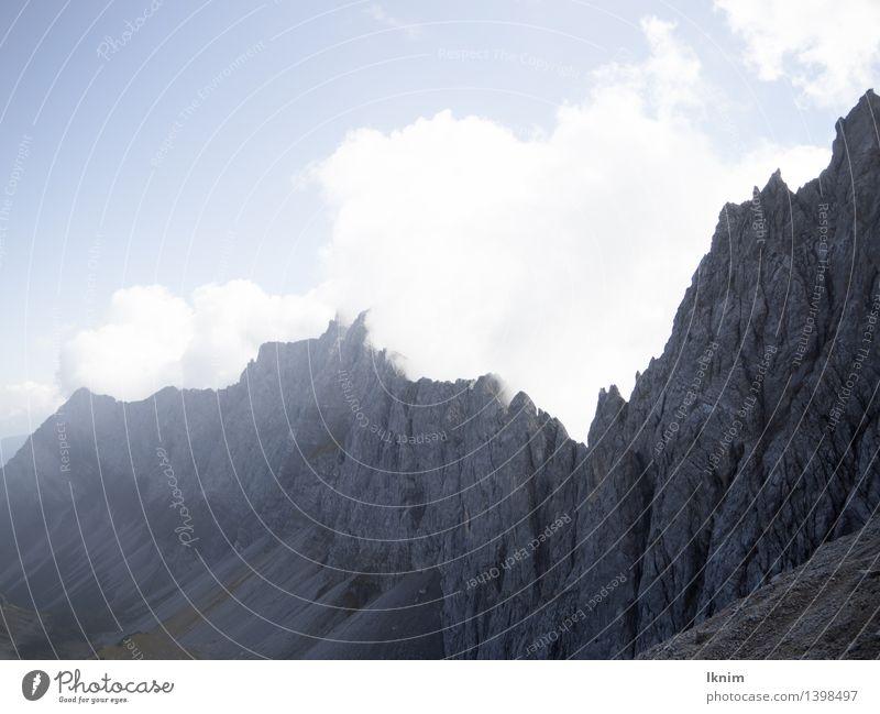Sky Mountain Environment Stone Rock Weather Hiking Wind Tall Threat Beautiful weather Peak Alps Storm Mountaineering Austria