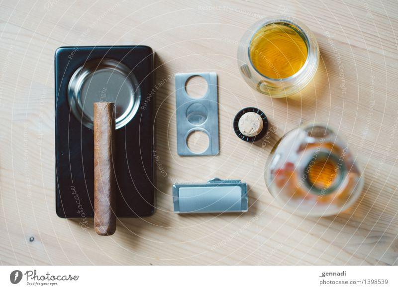 Men's World Food Whiskey To enjoy Masculine Smoking Cigar Bottle Consumption Ashtray Drinking Alcoholic drinks Equipment Male preserve Colour photo Deserted