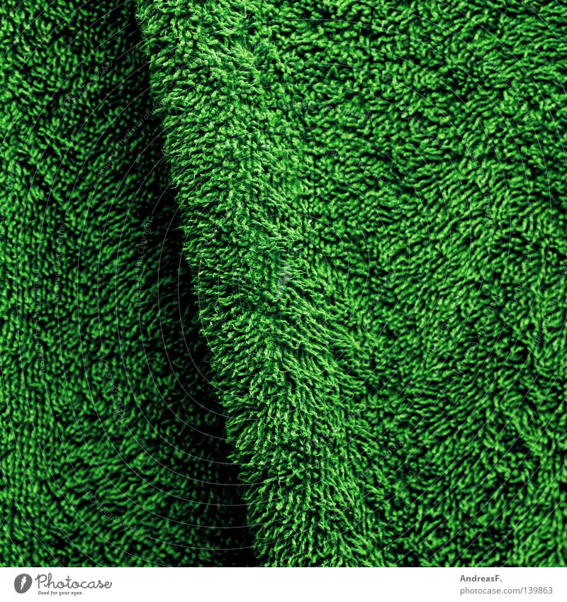 Green Meadow Grass Soft Clean Lawn Cloth Wrinkles Textiles Household Laundry Cuddly Wool Towel Cotton Thread