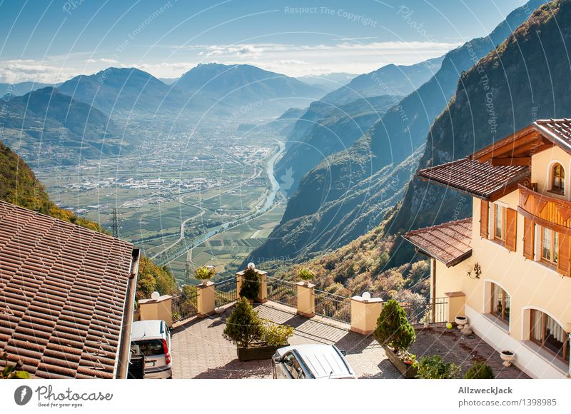 Vacation & Travel Mountain Autumn Vantage point Tall Italy Alps Fear of heights Panorama (Format) Mountain range