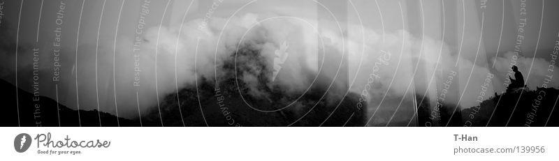 Big Buddha Human being Man Nature Clouds Landscape Asia Harmonious