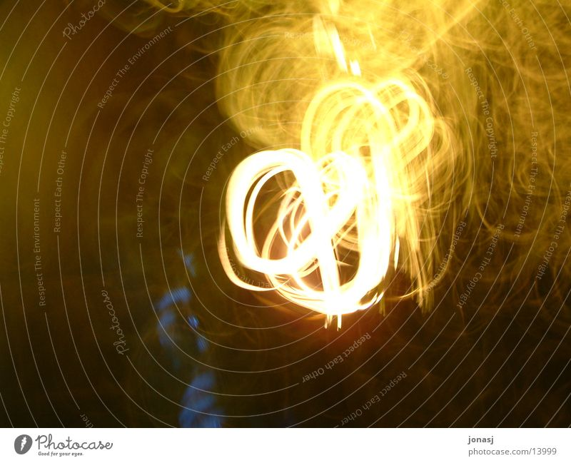 Yellow Dark Movement Blaze Flame Embers Photographic technology