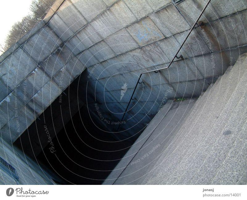 Dark Berlin Dirty Architecture Concrete Stairs Creepy Tunnel Underground Shaft