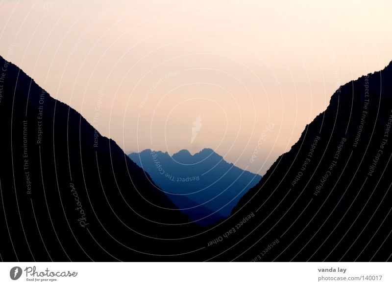 The Goblet Shadow Mountain Sunset Nature Pink Triangle Corner Sharp-edged Dark Twilight land Alps
