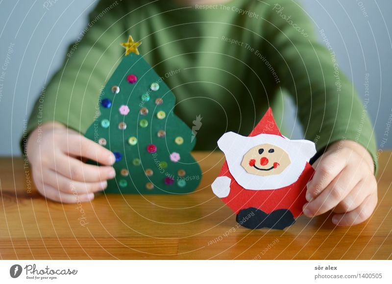 Human being Child Christmas & Advent Green Hand Red Boy (child) Feasts & Celebrations Contentment Infancy Happiness Wait Fingers Card Christmas tree Toddler